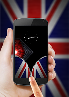UK Flag Zipper Lock- screenshot thumbnail
