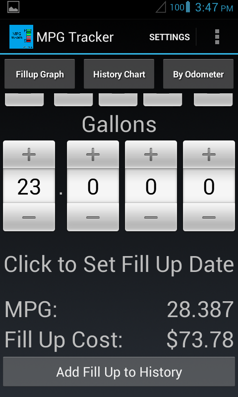 MPG Tracker - screenshot