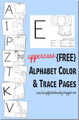 Preschool Worksheets   Uppercase Alphabet Color U0026 Trace Pages #alphabet  #preschool