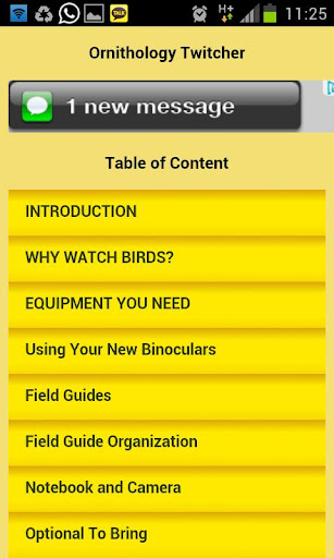 Ornithology and Twitcher Apps