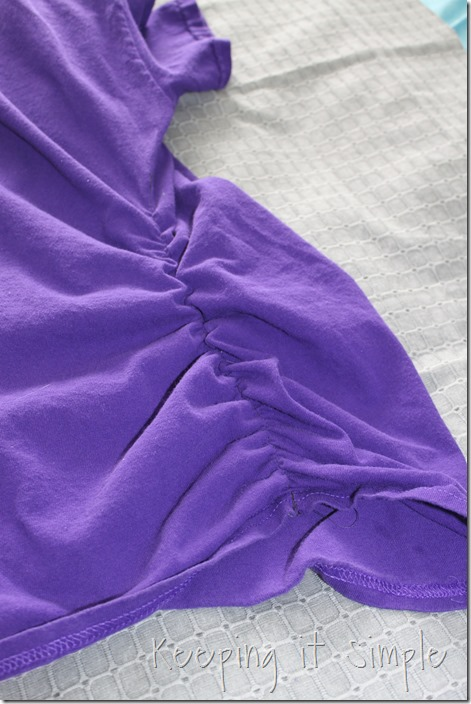 gathered sides t-shirt refashion (6)
