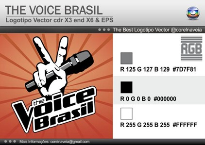Logo The Voice Brasil By Corel na Veia