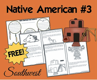native americans - Southwest Tribes -  includes 2 free printable books on the Navajo and Hopi), tribe comparisson, and ideas for hands on history for kids