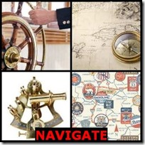 NAVIGATE- 4 Pics 1 Word Answers 3 Letters
