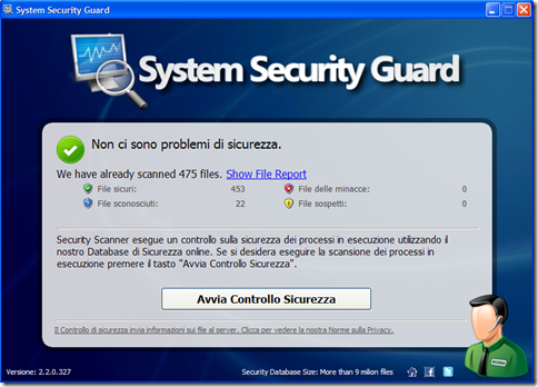 System Security Guard avvia scansione