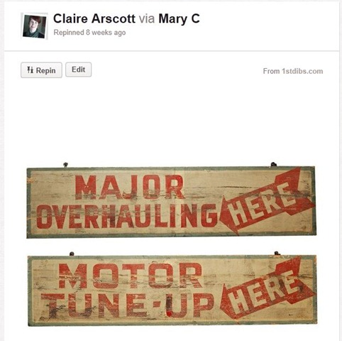 Pinterest Tune Up Sign