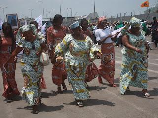 Les femmes de la RD Congo célèbrent la journée internationale de la femme ce 8 mars 2011 à Goma.