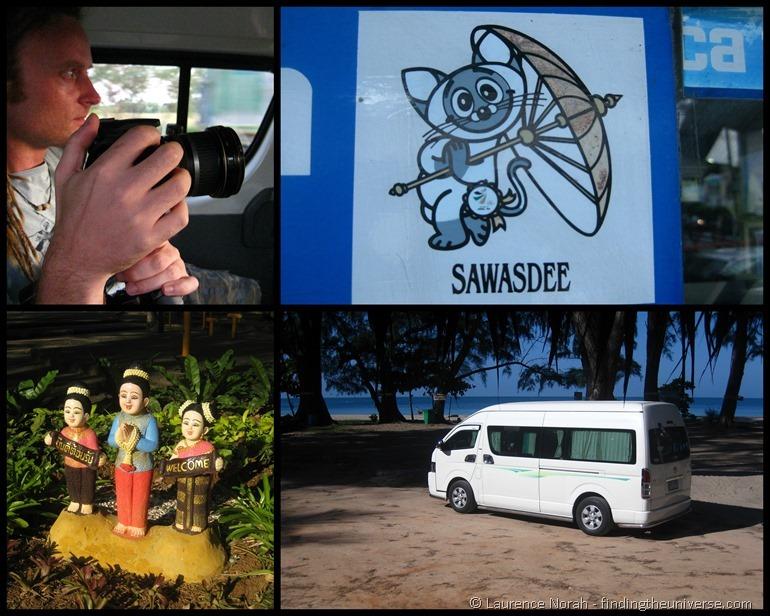 Thailand van sawasdee sign wai