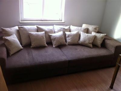 big sofa xxl gro e couch zum liegen sitzen schlafen mit vielen kissen ebay. Black Bedroom Furniture Sets. Home Design Ideas