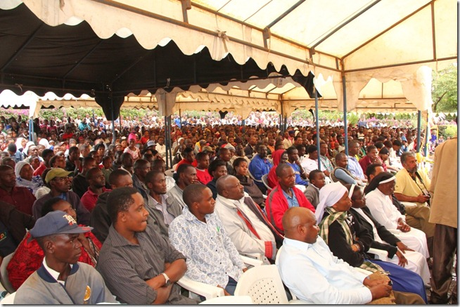 Church members attention to Mbowe speech