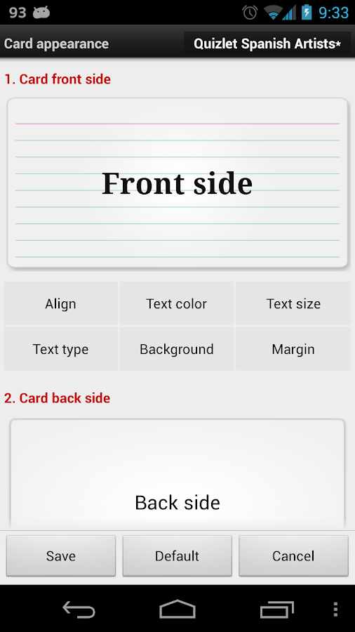 Flashcards Buddy Demo- screenshot
