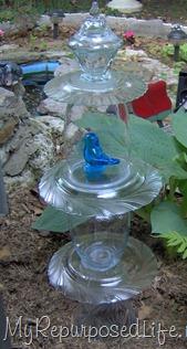 repurposed glass totem