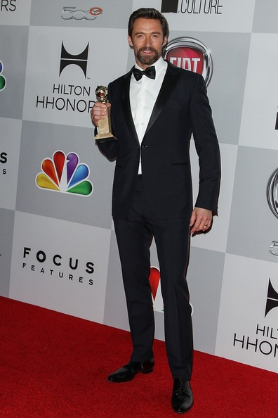 Hugh Jackman arrives at NBC Universal's 70th Annual Golden Globe Awards
