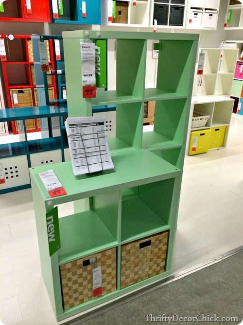 kallax ikea mint green