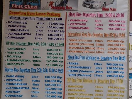 27. Bus schedule Luang Prabang.JPG