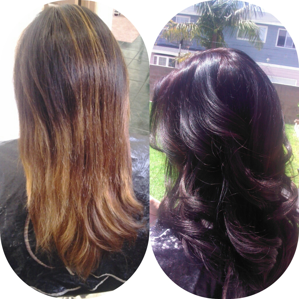 Healthy Hair Is Beautiful Hair Before And After Mocha Haircolor