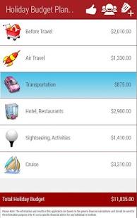 Holiday Planner Lite - screenshot thumbnail