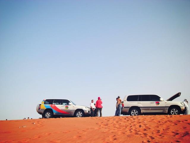 cars on sand