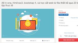 Chia sẻ khóa học html/css3, bootstrap 4, và học cắt web từ file thiết kế