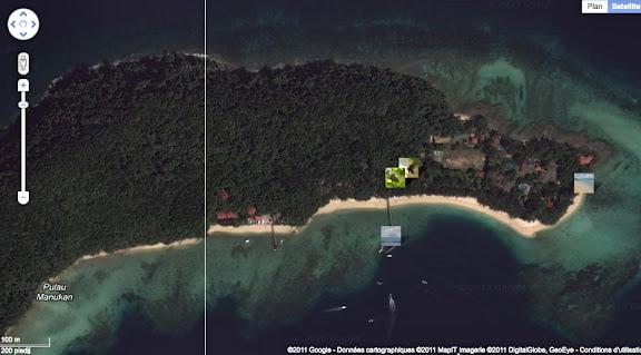 Localisation des photos sur Pulau Manukan
