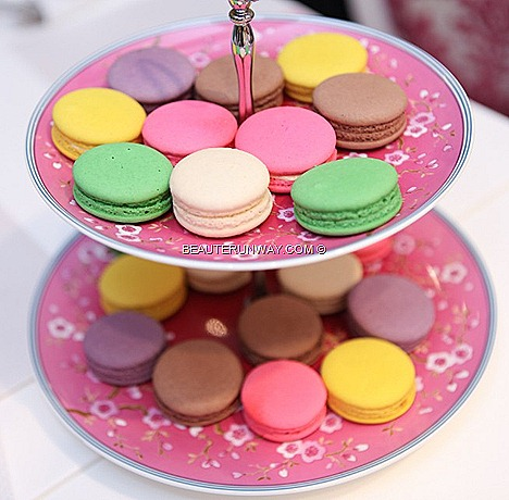 The Icing Room Macarons green tea chocolate with raspberry strawberry hazelnut cassia lemon, petite fours high tea menu