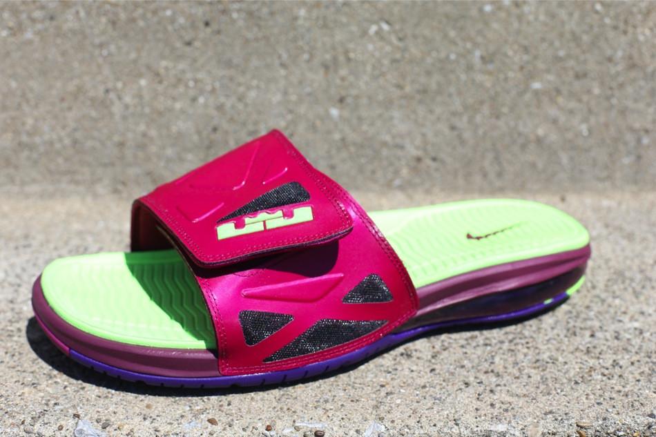 971fadd1df6 ... New Raspberry amp Mango Nike Air LeBron 2 Elite Slides ...
