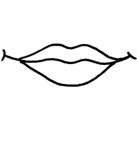 desenho boca para colorir colorir e aprender