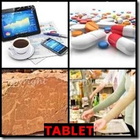 TABLET- 4 Pics 1 Word Answers 3 Letters