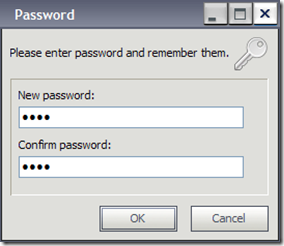 Hide Folders settare password di protezione