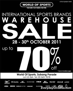 d52d1b48277e52 Malaysia Everyday On Sales  World of Sport Warehouse Sales 2011