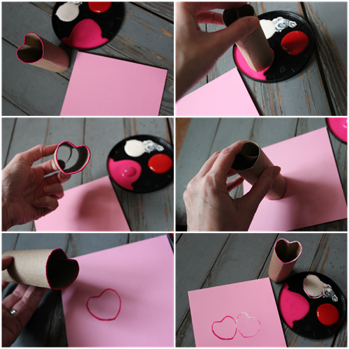 Paper Roll Heart Valentine's