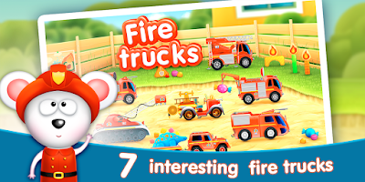 Screenshot of Firetrucks: rescue for kids