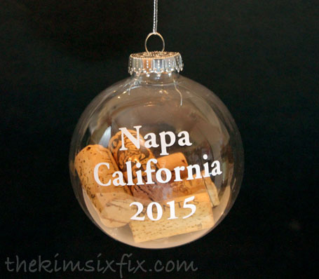 Cork filled ornament
