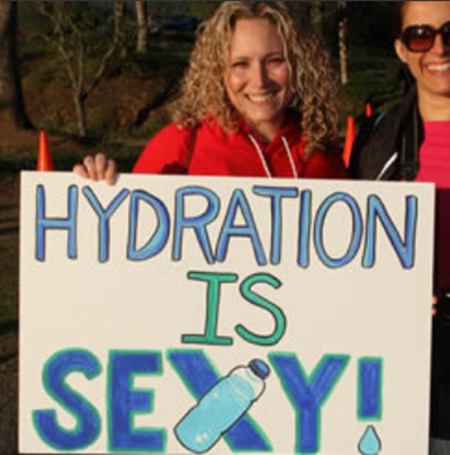 hydration race sign
