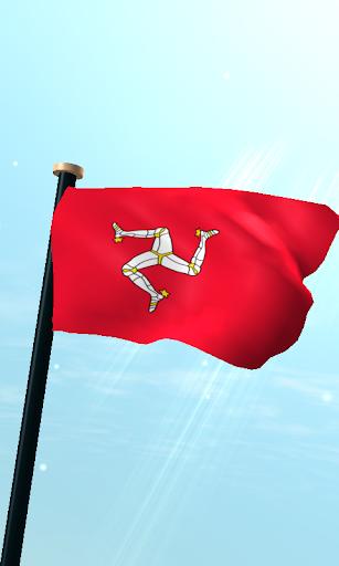 Isle of Man Flag 3D Wallpaper