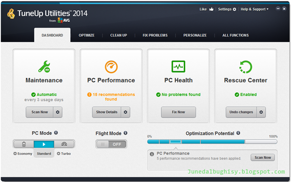 Free Download TuneUp Utilities 2014 Full Version 01