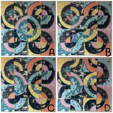 Curvy Fantasia Quilt Layout Options
