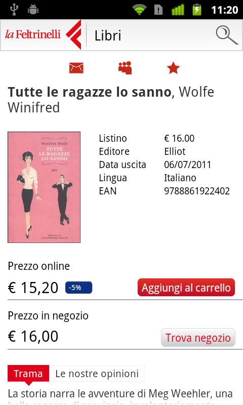la Feltrinelli mobile - screenshot
