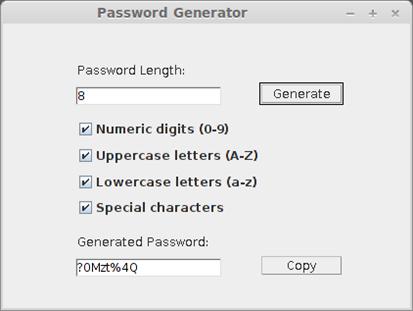Java Password Generator