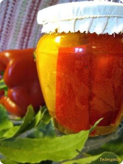 Conserva facile di peperoni
