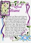 Beltane ritual pagão de interesse para os pagãos Neo