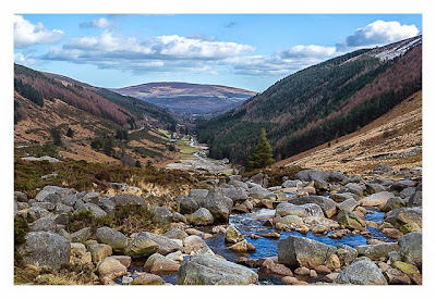Passstrasse bei Glendalough in den Wicklowmountains