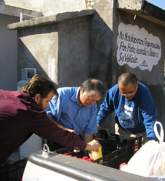 Friends Unloading a Truck in Tamaulipas, Mexico