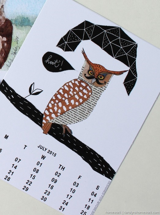 2015 Owl Lovers Calendar via homework (1)