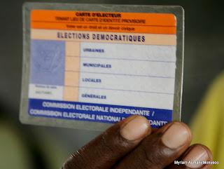 Carte d'électeur.