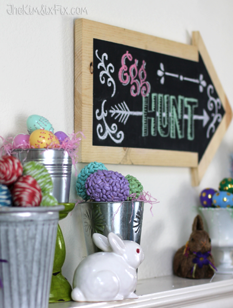 Egg hunt chalkboard sign