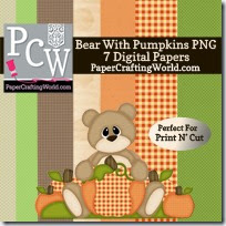 bear w pumpkin digi set-200