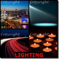LIGHTING- 4 Pics 1 Word Answers 3 Letters