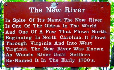The New River sign