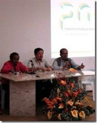 Mesa de abertura do evento que discutiu o Plano Nacional de Cultura